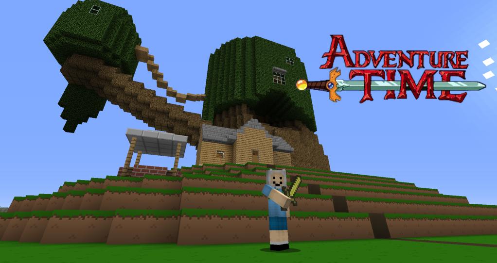 Скачать карту Adventure Time для Minecraft